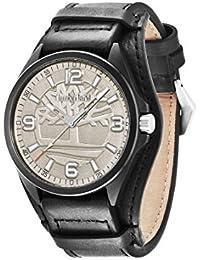 Timberland - TBL.14117JSB-61 - Sebbins - Montre Homme - Quartz Analogique - Cadran Gris - Bracelet Cuir Noir