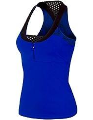Naffta CA737 - Camiseta asas para mujer, color azul fluor / negro, talla L