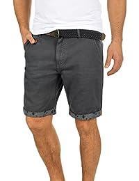 e52f667079 Indicode Inka Chino Pantalón Corto Bermuda Pantalones De Tela para Hombre  con Cinturón de 100%