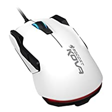 ROCCAT - Kova Pure Performance Gaming Mouse (7000 DPI, Left/Right-Hand, 12 Programmable Mouse Buttons) white