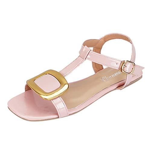 Lanskrlsp sandali bassi donna estivi - 2019 eleganti donna estate bassi moda sandali da sposa scarpe da spiaggia bambina piatti,bohemian modello con infradito scarpe da danza da donna
