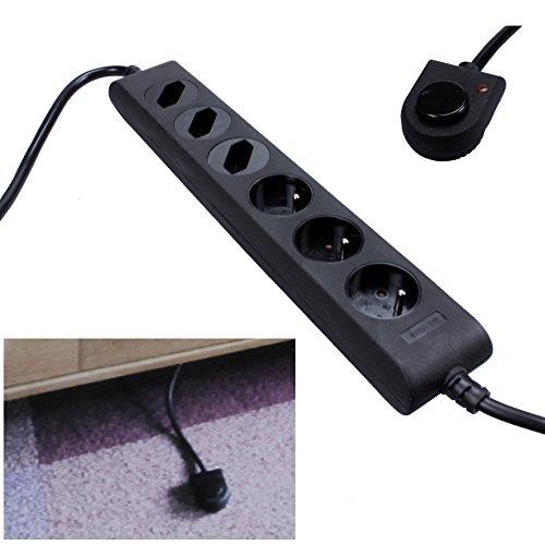 Elro 6-fach Steckdosenleiste mit Fußschalter Steckdosen Leiste