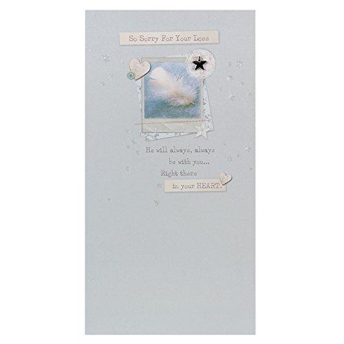 Hallmark Sympathy Card 'He'll Be In Your Heart' - Medium Slim Test