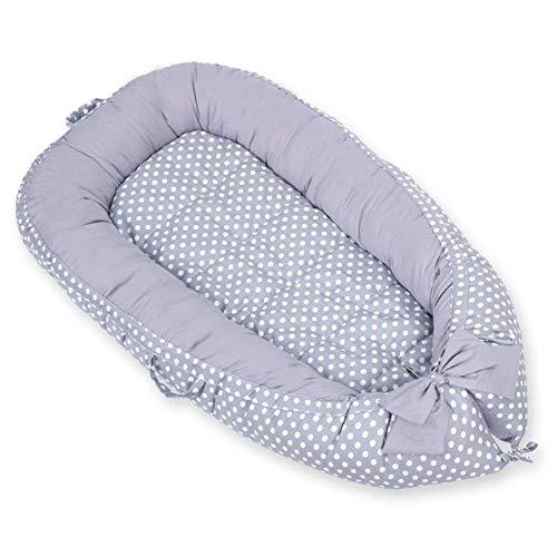 Versenkte Reißverschluss (Baby-Neugeborenenliege, tragbares, ultraweiches Baby-Kuschelnest, herausnehmbare Bionic-Stubenwagenbetten und Babybetten | Atmungsaktiv und hypoallergen Sleep-100Cotton Crib Matratze für Schlafzimmer)