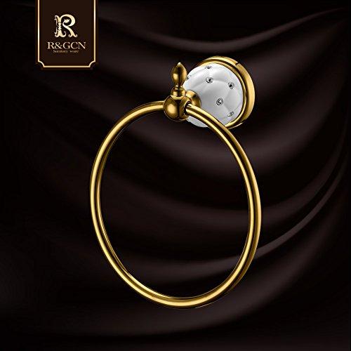Continental antico anello di tovagliolo / diamante / acciaio inox / accessori per il (Anello Di Diamante Di Modo Cerchio)