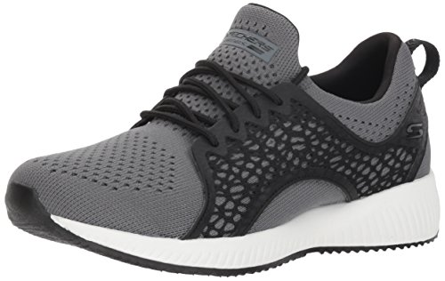 Skechers Bobs Squad-Electromagnetic, Zapatillas para Mujer, Gris (Charcoal Black Ccbk), 38.5 EU