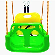 BBCare 3-in-1 Baby Children Teenager Swing with Snap Hooks and Hanger Belts (Green)