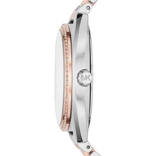 Michael Kors Damen-Armbanduhr Analog Quarz One Size, silberfarben, zweifarbig - 2