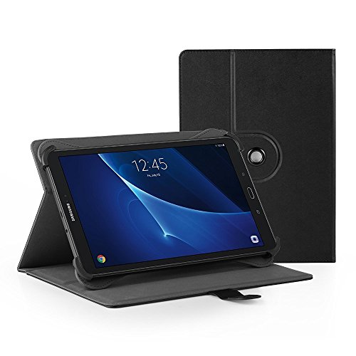 EasyAcc Universelle 10 Pouces Tablette Tactile Housse en PU-Cuir, 360° Degrés de Rotation Couvercle Étui Case Samsung Galaxy Tab S 10.5/Samsung Galaxy Tab 3 10.1/Tab 2 10.1/Lenovo A10-70 10.1, Noir