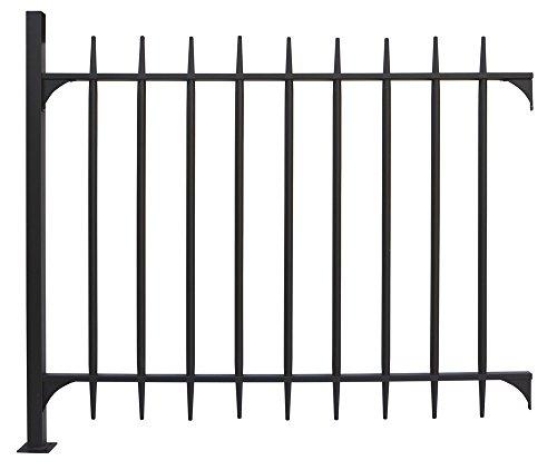 VERDELOOK Pannello cancello modulare in Metallo Verniciato, Dimensioni 128x107x4 cm, Colore Nero