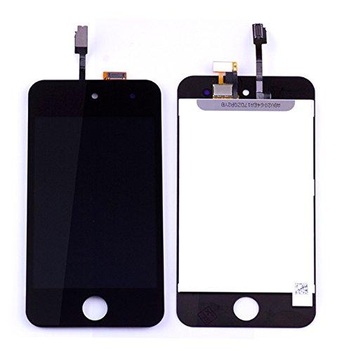 Original Sintech© Display-Einheit passend für Apple iPod Touch 4G / 4. Generation in der Farbe schwarz - komplette Einheit inkl. Frontscheibe, Touchscreen und LCD - Einfache Montage ganz ohne Lötarbeiten