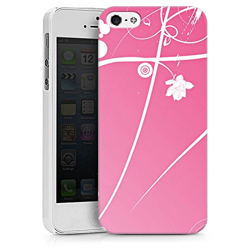 Apple iPhone X Silikon Hülle Case Schutzhülle Ornamente Blumen Muster Hard Case weiß
