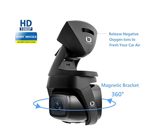 """OnReal Auto kamera 1080P Mit 1,5 """"Bildschirm 150 Grad Weitwinkelobjektiv und 360 Grad Magnethalterung mit gesunder Ionizer Unterstützt G-Sensor Nachtsicht Bewegungserkennung Loop Record Parken Monitor"""
