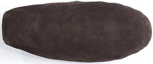 SNUGRUGS  Wool Lined Suede - Soft Sole, Chaussons à doublure chaude homme Marron (Marron)