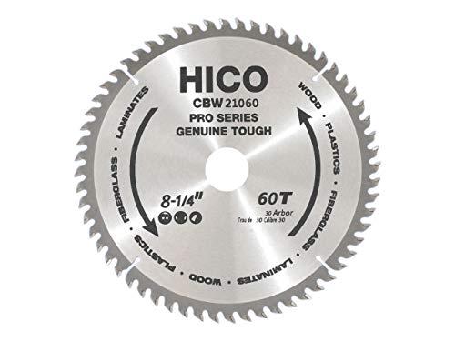 HICO Sägeblatt für Kreissägen 210mm 60 Zähne Wechselzahn Hartmetall