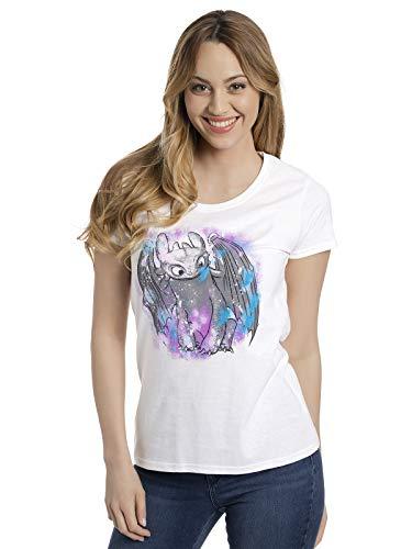 DRACHENZÄHMEN LEICHT GEMACHT Dragon Trainer Toothless - Coloured T-Shirt Bianco L