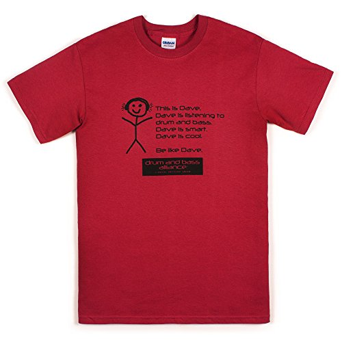 Strand Clothing Herren T-Shirt Rot Rot Gr. XX-Large, - Hospital Records-t-shirt