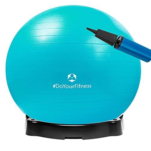 Gymnastikball »Pluto« inklusive Ballschale/Robuster Sitzball und Fitnessball / 85 cm/türkis