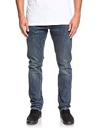 3768240e85b2 Quiksilver Revolver Medium Blue - Straight Fit Jeans for Men EQYDP03372