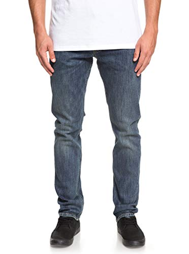 Quiksilver Revolver Medium Blue - Straight Fit Jeans for Men - Männer - Quiksilver Blue Denim