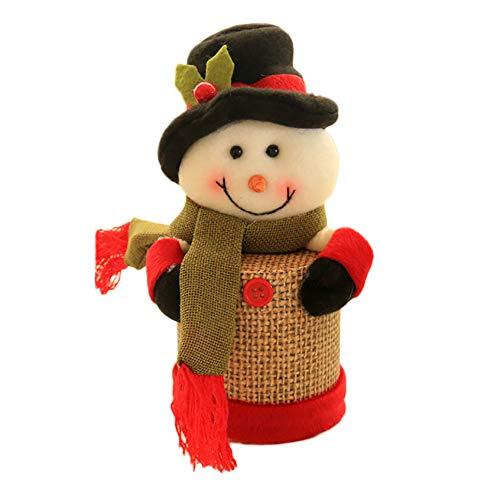 Papier Beutel Papiertüten Weihnachten Candy Jar Vorratsflasche Santa Bag Verpackung für Geschenktüten, Gastgeschenk, Kindergeburtstag, Süßes, Hochzeit (B)