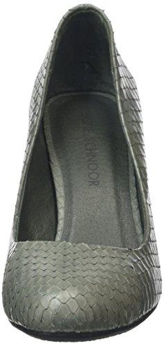 Sofie Schnoor Snakeskin Pump, Chaussures à talons - Avant du pieds couvert femme Gris - Gris foncé