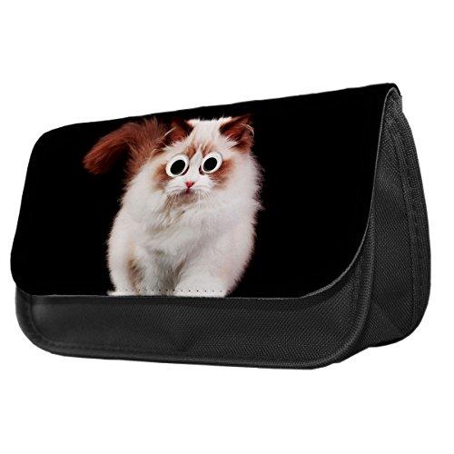 Ragdoll Katze Googley Augen Tier Bleistift Fall/Make-up Tasche (Ragdoll Up Make)