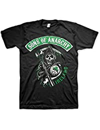 Officiellement Marchandises Sous Licence Sons Of Anarchy Ireland T-Shirt (Noir)