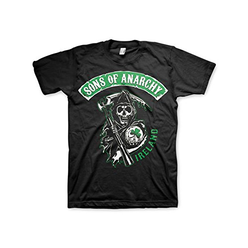 Officially-Licensed-Merchandise-Sons-Of-Anarchy-Ireland-T-Shirt-Black