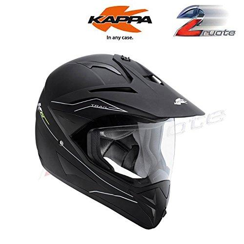 CASCO-KV10-TRAIL-NERO-OPACO-MOTARD-ENDURO-KAPPA-56-TAGLIA-S