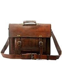 """11""""Genuine Leather Handmade /Satchel/Messenger/ Unisex / Shoulder Bag Daily Use."""