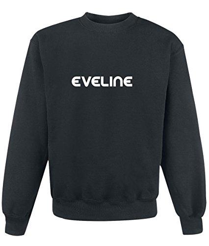 Felpa Eveline - Print Your Name Black