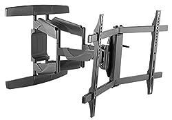RICOO S3944, Curved TV-Wandhalterung, Schwenkbar, Neigbar, TV-Halterung, Universal (32-65 Zoll (81-165 cm)) Fernseher-, LCD-, LED-, Flachbild-, Wand-Halter, VESA 200x200 400x400, Schwarz