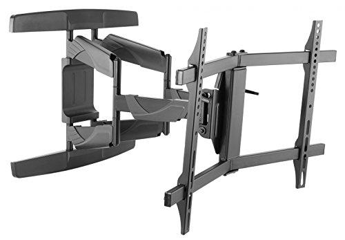 RICOO TV Wandhalterung S3944 Fernseh Universal Halterung Schwenkbar Neigbar Aufhängung Curved LCD Fernseherhalterung Wand Halter Flach 81-165cm 32-65 Zoll VESA 200x200 400x400 Schwarz