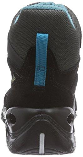 Ecco Ecco Snowboarder, Bottes de Neige garçon Noir (black/black/pagoda Blue)