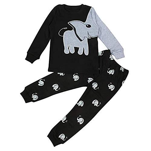 EULLA - Pijama de Dos Piezas para niño, diseño de Dinosaurio y...