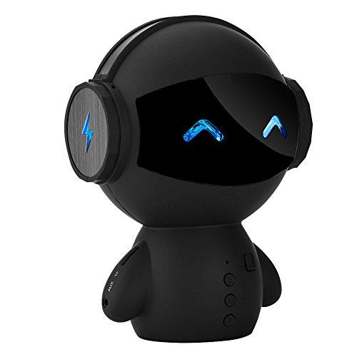 Richer-R Altavoz Bluetooth Inalámbrico,Altavoz de Forma de Robot,Speaker Estéreo Portátil,Apoyo Tarjeta TF/USB.Llamada...