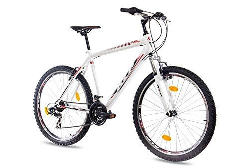 KCP 26 Zoll Mountainbike Fahrrad - MTB ONE Weiss - Mountain Bike mit Gabel-Federung für Herren, Jungen und Damen, MTB Hardtail mit 21 Gang Shimano Schaltung