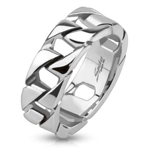 Paula & Fritz anello in acciaio inox 316L, 75mm, motivo: Cuba verknüpfte collana Taglie disponibili (Ematite Gatto Collana)
