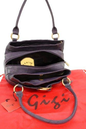 """Handtasche Leder """"Othello"""" von Gigi - GRÖßE: B: 22-31 cm, H: 17 cm, T: 9 cm Violett"""