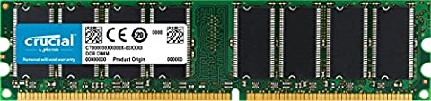 Crucial CT12864Z335 1GB DDR 333MHz (PC2700) Unbuffered UDIMM 184-Pin