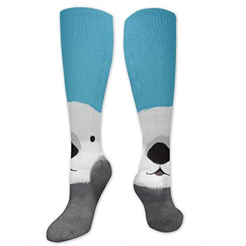 ouyjian Schönes Lächeln Otter Persönlichkeit Spaß Muster Mode Socken Herren und Damen Socken Polyester - Socken Rohr Mädchen