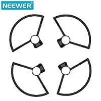 Neewer Propeller Guards for DJI Spark Drone Quadcopter- Small, Ultra-Light Detachable Guard with Guard Holder (4 Pieces, Black)