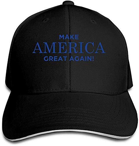ingshihuainingxiancijies Unisex MAGA Make America Great Again Baseball Baseballmütze Einstellbare Emporgeragte Sandwich Hut Schwarz