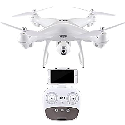 Drone Quadcopter with 1080P HD Camera, S70W 2.4GHz GPS FPV Wifi Headless Mode 120° Wide-angle Altitude Hold One Key Take Off/Landing from GreatestPAK