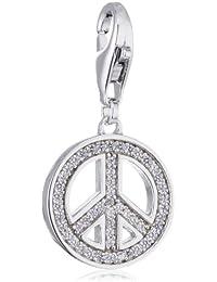 Esprit Damen-Anhänger Peace ESCH90914A000