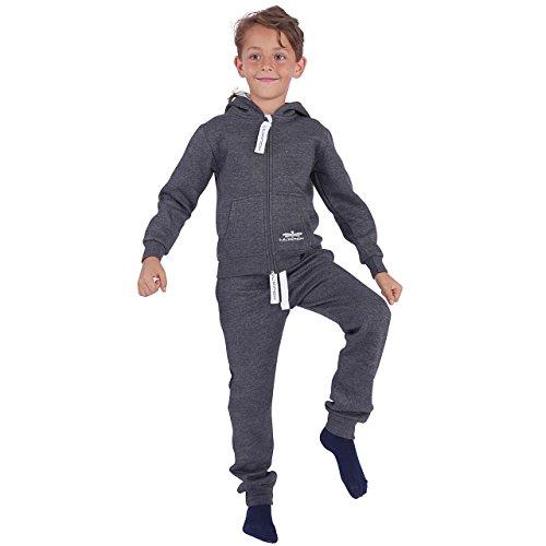 r Trainingsanzug Jungen Mädchen Kids Dunkelgrau Gr. 134/140 (Mädchen-fußball-kostüme)