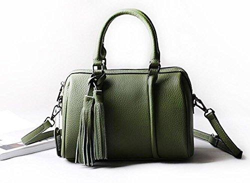 CHAOYANG-a tracolla in pelle borsa borsa borsa diagonale primo strato di borsa di pelle con frange , purple taro olive green