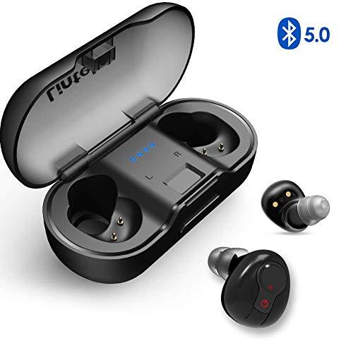 Lintelek TWS Bluetooth V5.0 Wireless Kopfhörer Earbuds In-Ear Ohrhörer Mini Sport Ohrhörer Stereo Headset mit Mikrofon Mini Ladebox Für alle Bluetooth-Geräte*