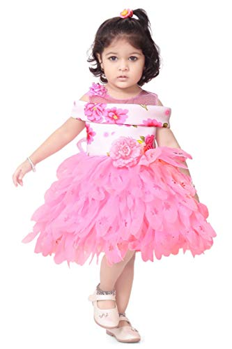 57afea5d Apna Party Dress Party Frock for The Kids Pink Colour - lali mix india
